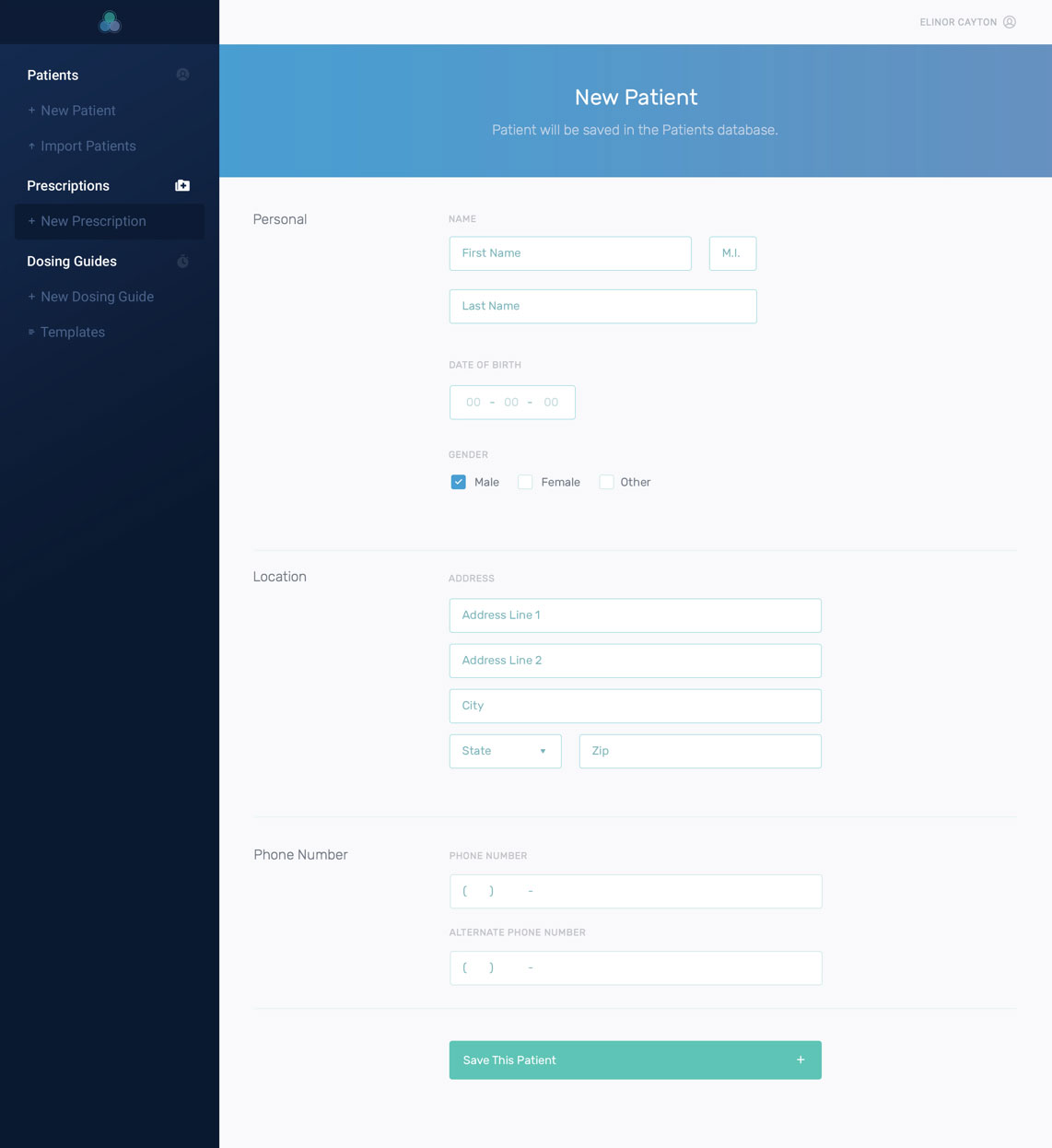 Design of the new patient form in the Daavlin app
