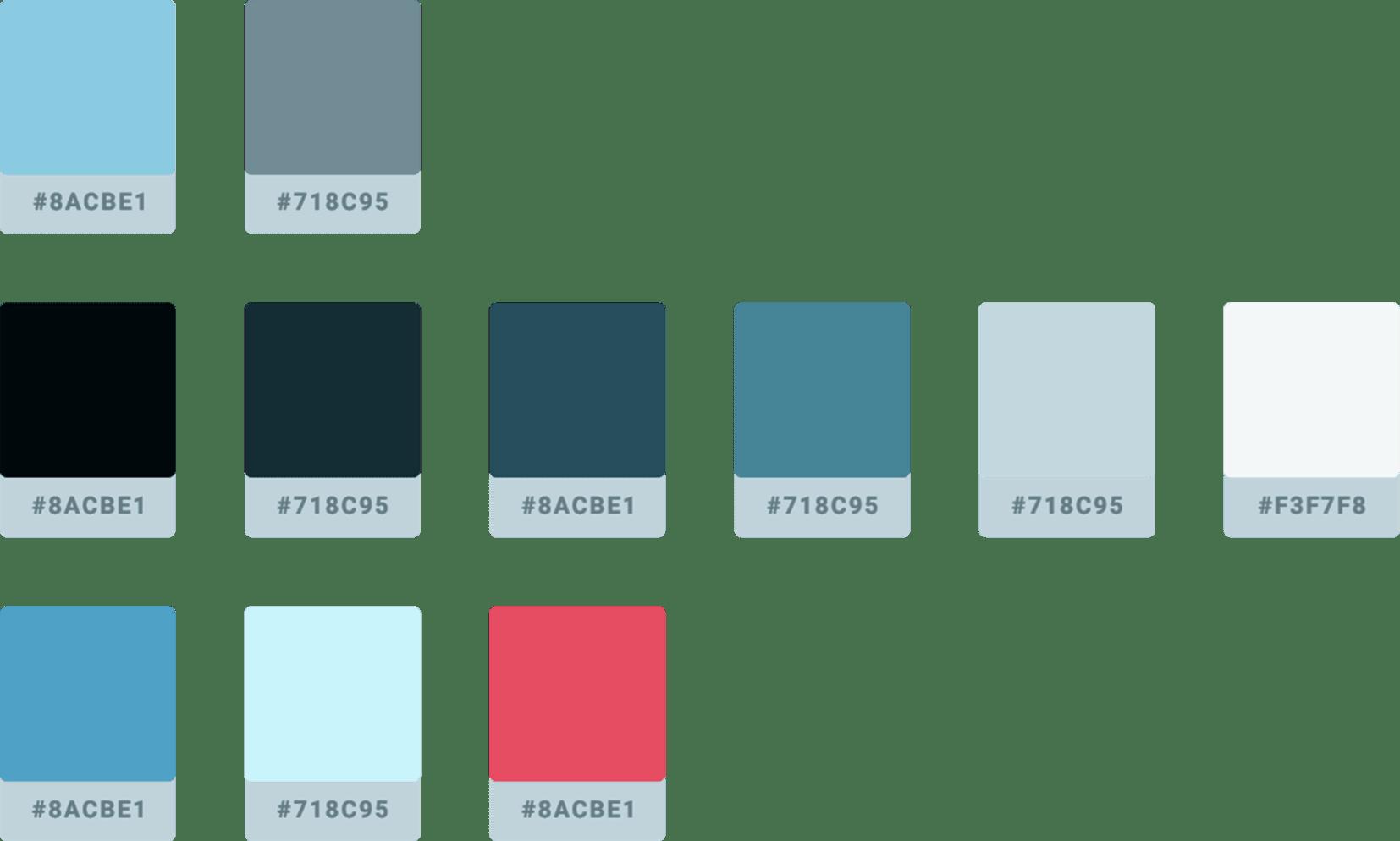 The EveryMundo color scheme