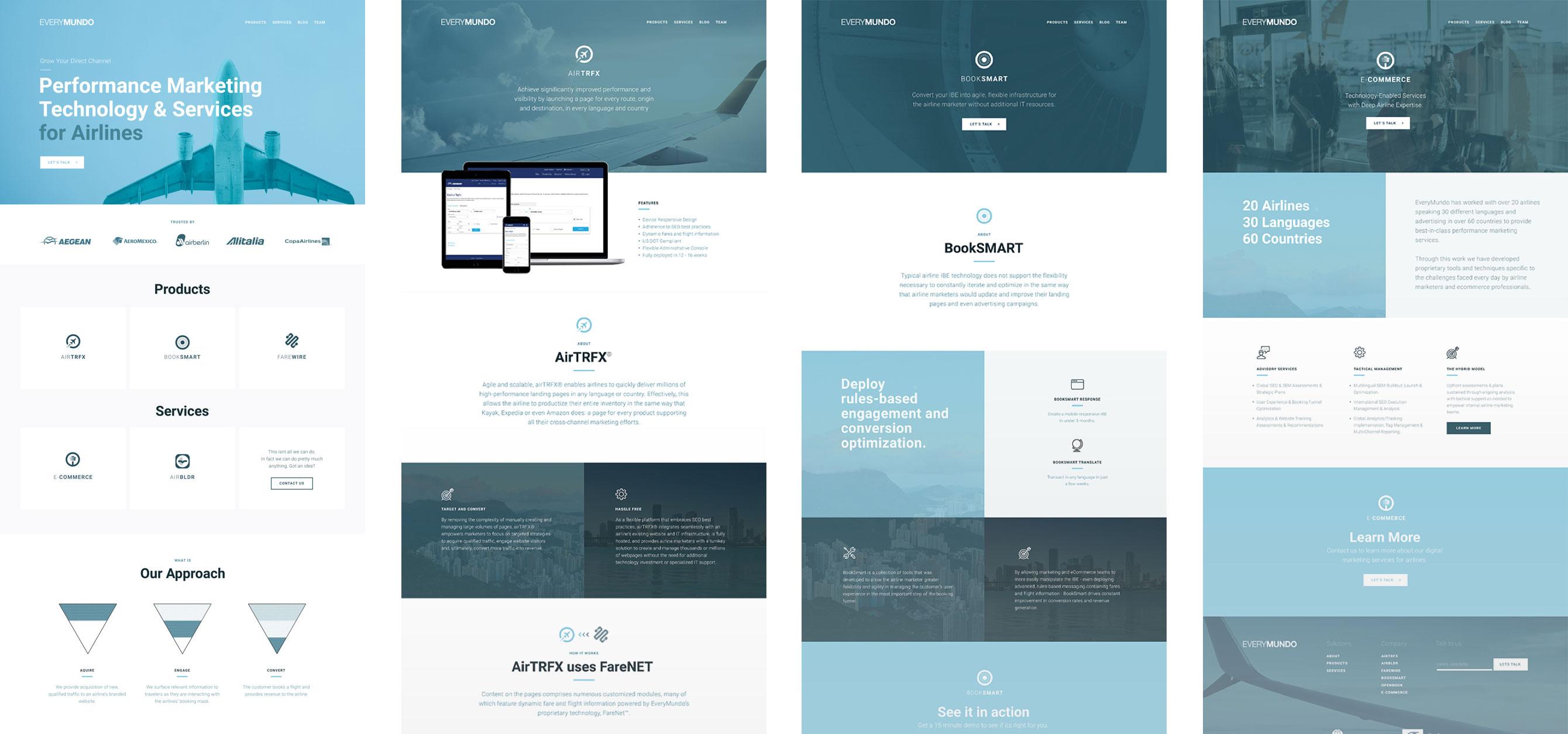 Design comps of EveryMundo